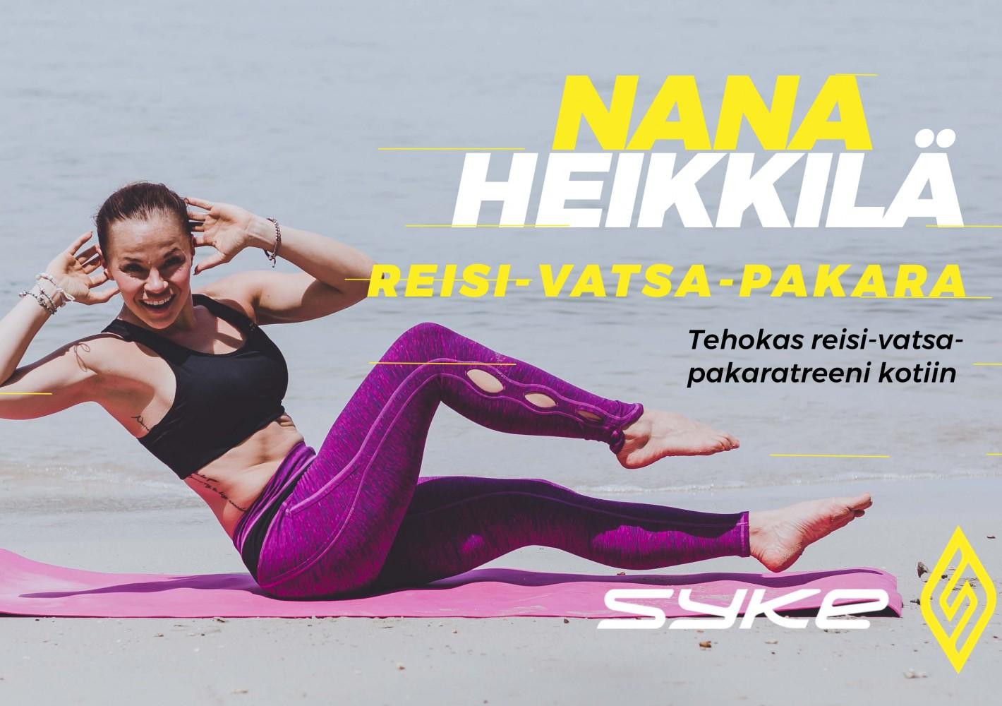 Tehokas reisi-vatsa-pakaratreeni kotiin by Nana Heikkilä
